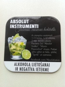 "You can make the ""Absolut Instrumenti"" at home!"