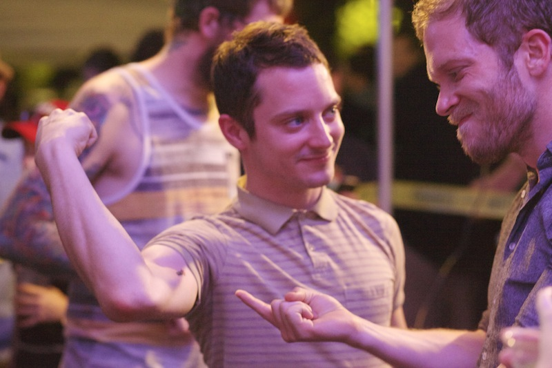 Elijah Wood shows off the tattoo he got at Fantastic Fest