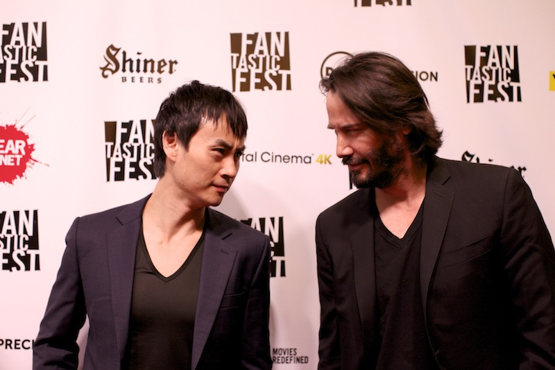Tiger Hu Chen and Keanu Reeves at Fantastic Fest