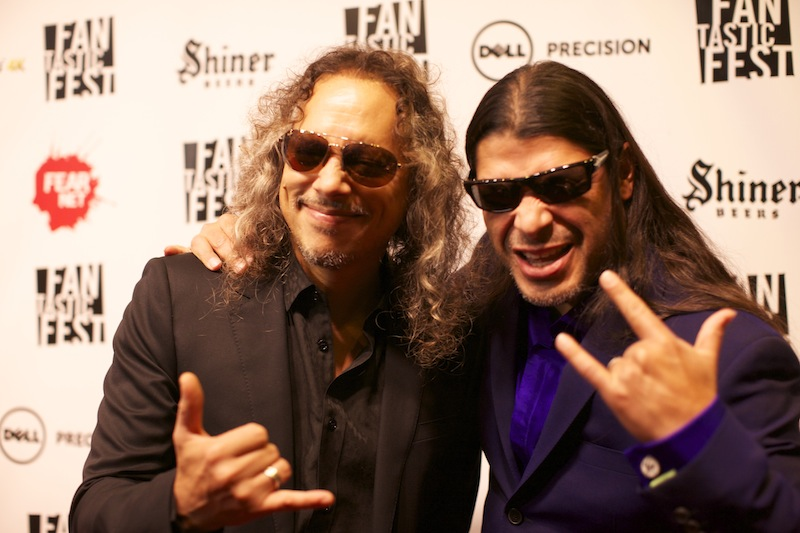 Kirk Hammett and Robert Trujillo of Metallica
