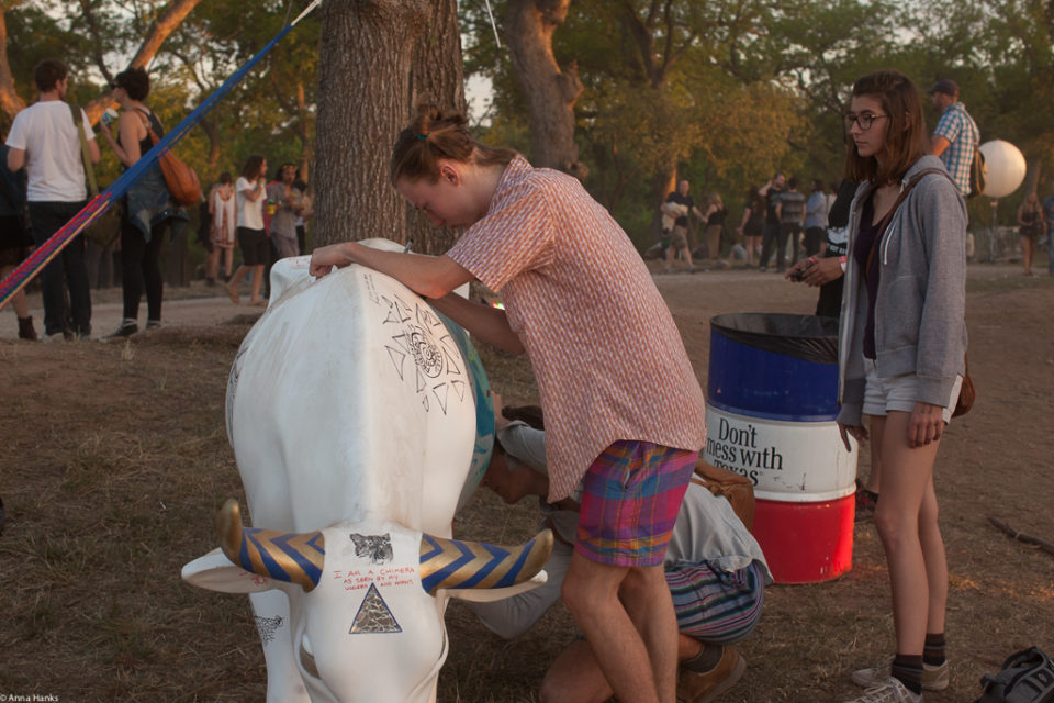 Arting the  cow