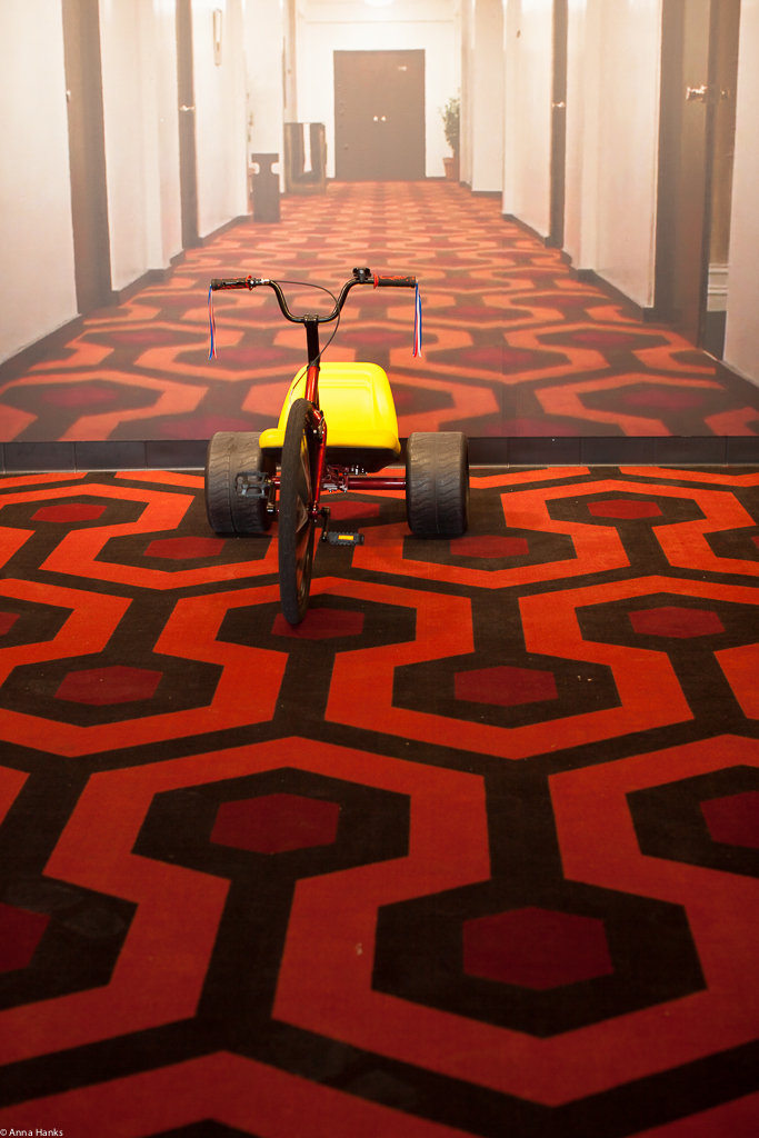 The Shining lobby at the Alamo Drafthouse