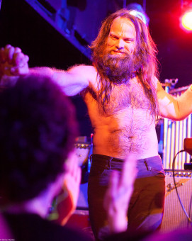 Thor Harris, After the Swans show in Houston, June 2014
