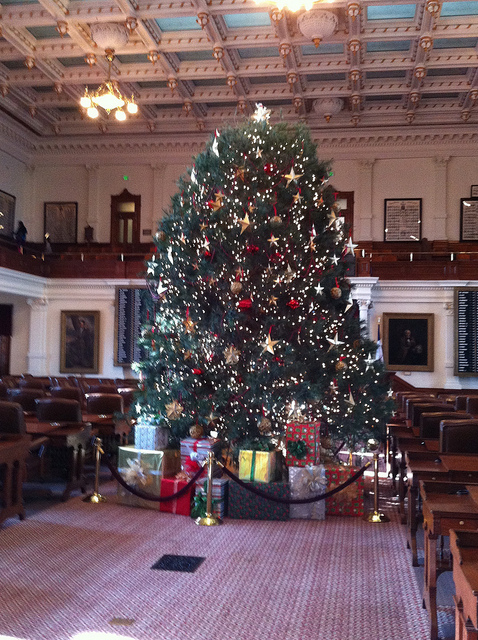 Christmas Tree at the Texas Capitol.
