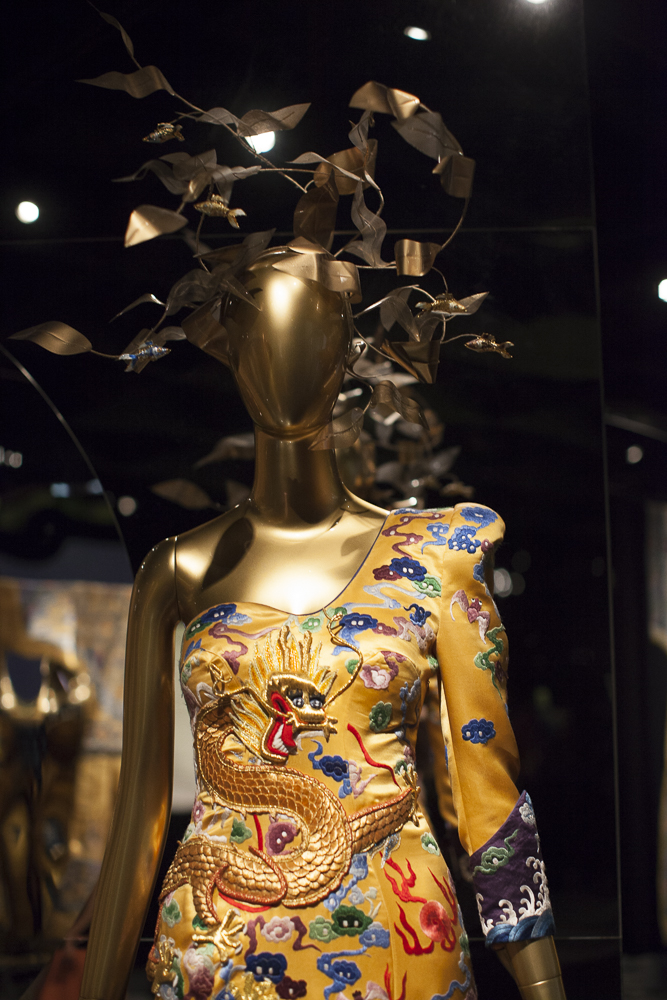 """Yellow dress from """"China Through the Looking Glass"""" at the Metropolitan Museum of Art in NYC, 2015"""