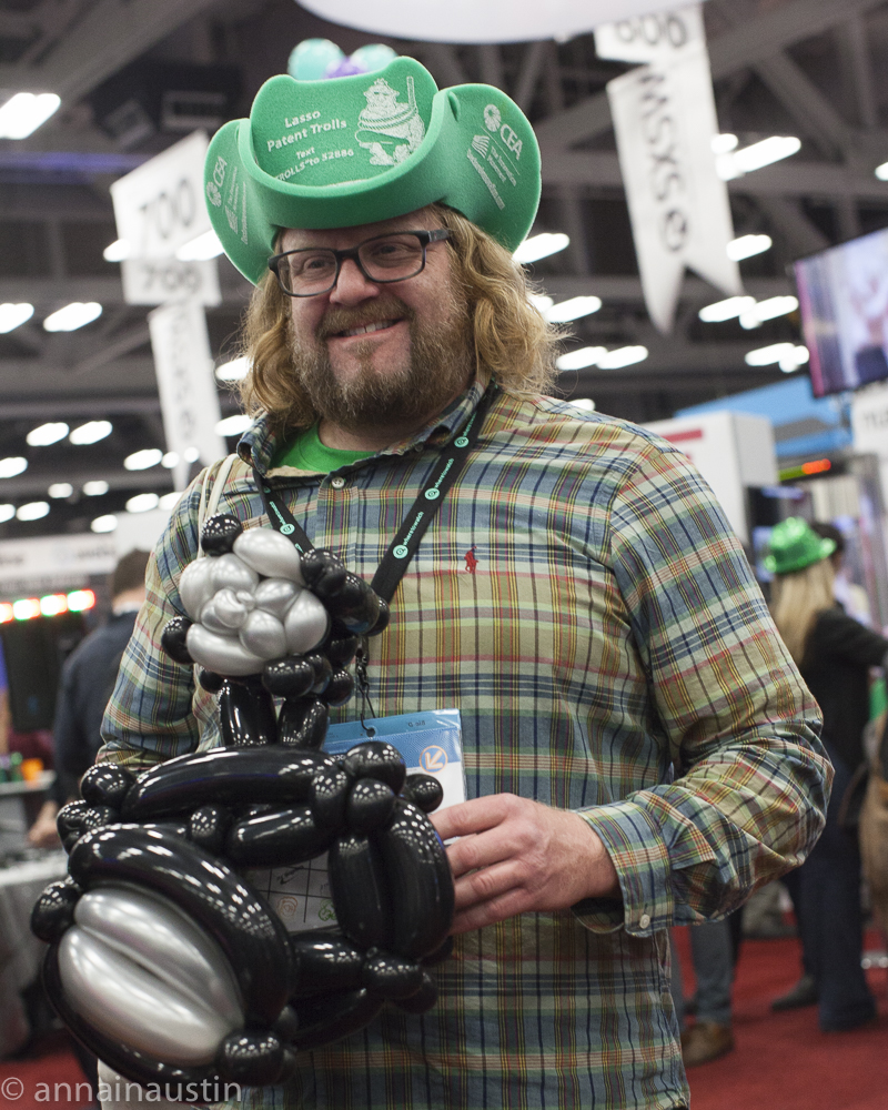 balloon camera. SXSW trade show,  Austin Texas SXSW 2015-4506