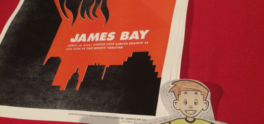 Flat Stanley at the James Bay Austin City Limits Taping