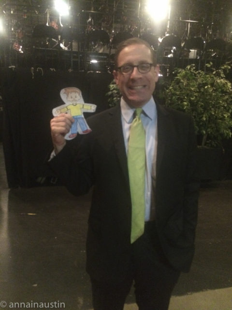 "Flat Stanley with Evan Smith at the ""PBS OVerheard"" Taping"