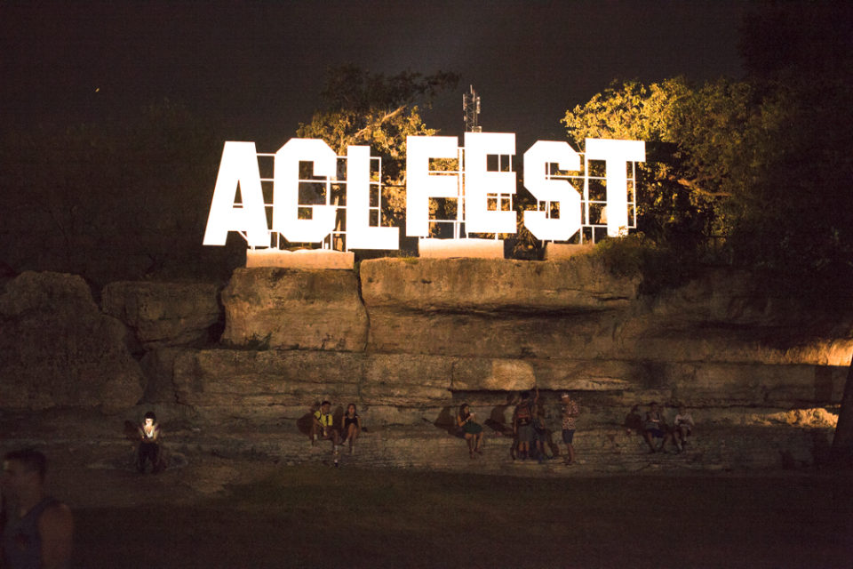 At the new ACL Fest sign