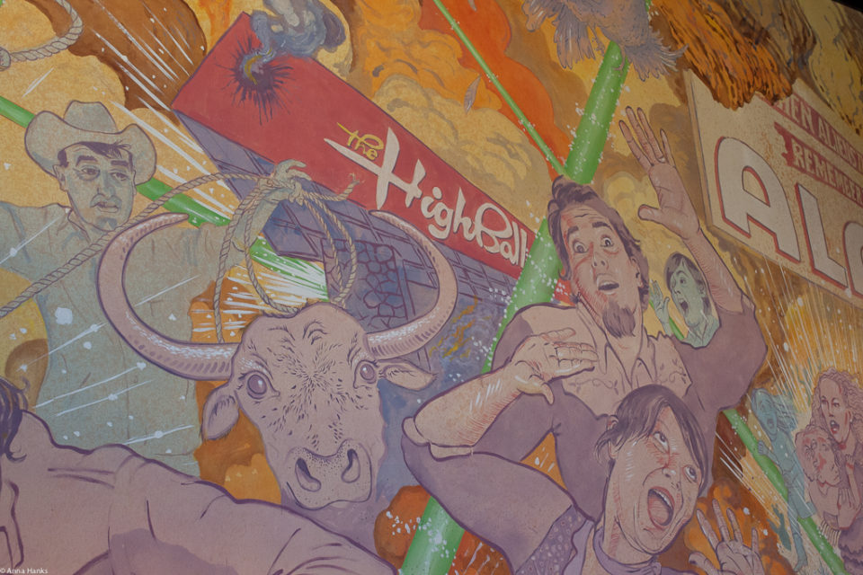 Lobby mural Alamo Drafthouse