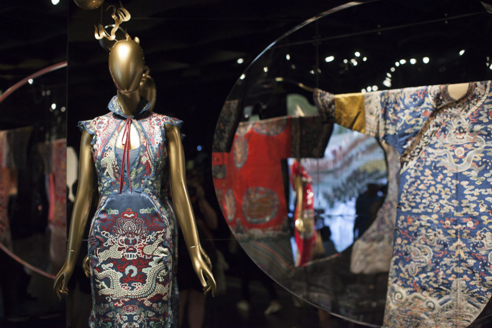 """New dress detail and old detail from """"China Through the Looking Glass"""" at the Metropolitan Museum of Art in NYC, 2015"""