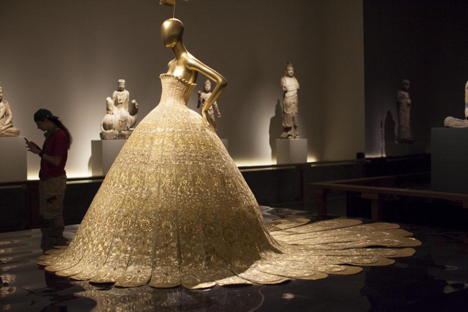 Lotus flower dress at the China exhibit
