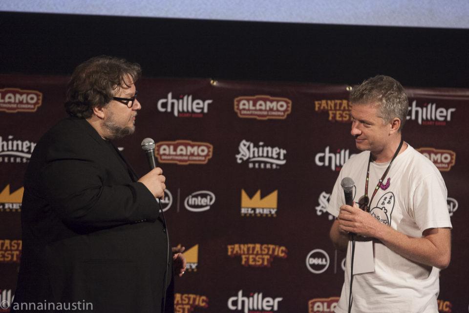 Guillermo del Toro and Tim League, Q&A Secret Screening of Crimson Peak, Fantastic Fest 2015-0399
