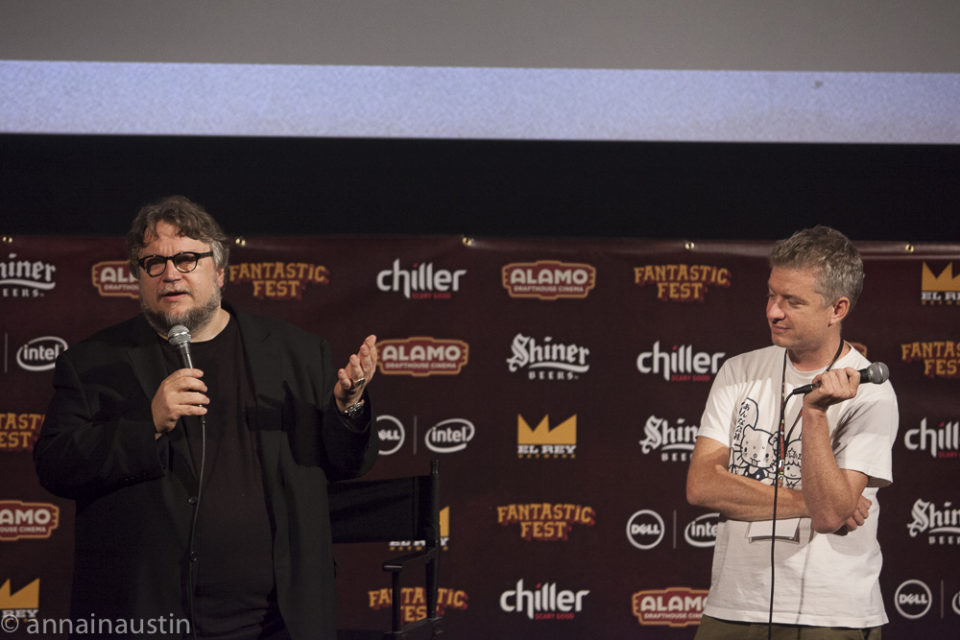 Guillermo del Toro and Tim League, Q&A Secret Screening of Crimson Peak, Fantastic Fest 2015-0421